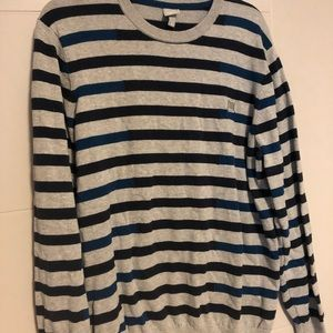 Navy and Black Striped Bench Sweater